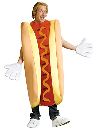 [FunWorld Hot Dog, Tan/Red, One Size Costume] (Food Halloween Costumes For Adults)