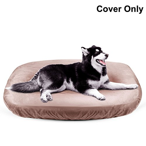 Dog Bed Cover Pet Bed Covers Convenient Case 100% Washable Scratch Proofing Anti-Slip Bottom,Universal to Majority Dog Beds 4 Color S-XXL