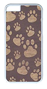 iphone 6 plus Case iphone 6 plus Cases VUTTOO Paw Print Polycarbonate Hard Case Back Cover for iphone 6 plus 5.5inch White