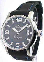 Lucien Piccard 28163BU Men's Date Watch Rubber Strap