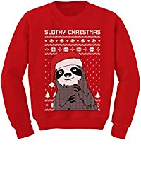 TeeStars - Slothy Christmas Ugly Christmas Sweater Youth Kids Sweatshirt