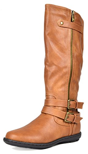 DREAM PAIRS Women's New Veronica Camel Faux Fur Knee High Winter Snow Boots Size 10 B(M) US