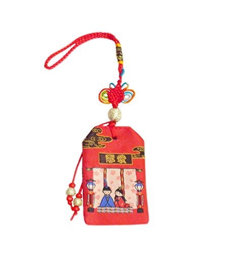 Japanese Luck Tassel Charm : 2.5-inch Wish Holder - New Couple Blessings