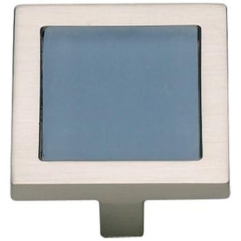 Atlas Homewares 230 Blu Ch 1 3 4 Inch Spa Blue Square Knob