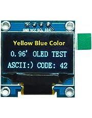 "0.96""Amarillo Azul/Azul/Blanco I2c IIC Serial Oled LCD Módulo LED 128X64 para Arduino Display Raspberry PI 51 Msp420 Stim32 SCR (Color: Amarillo-Azul)"