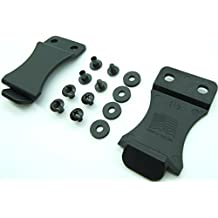 """Kydex Holster Belt Quick Clips for IWB/OWB Sheath/Gun Holster Making with Replacement Hardware 1.5"""" or 1.75""""- Slotted Binding Posts/Chicago Screws. Made in USA"""