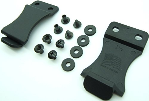"Kydex Holster Belt Quick Clips for IWB/OWB Sheath/Gun Holster Making with Replacement Hardware 1.5"" or 1.75""- Slotted Binding Posts/Chicago Screws. Made in USA (1.75"" 2-PACK)"
