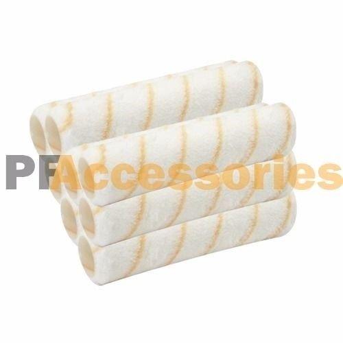 8 Pcs Reusable Paint Roller Covers 9  X 3 8  Nap Washable Pvc Plastic Core New