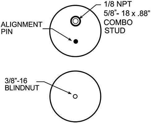 2 x TR6397 Pair of TORQUE Air Spring Suspension Replacement for Ride Rite 6397 1//8 NPT