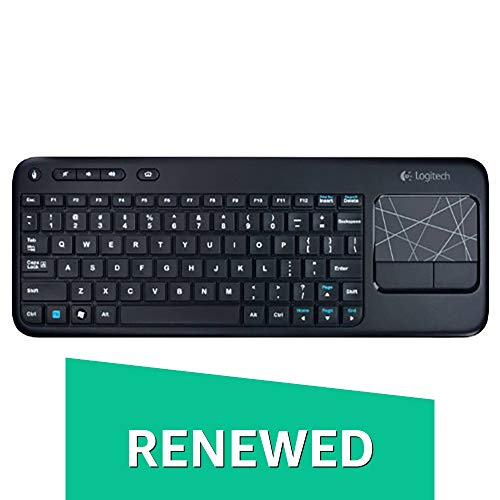 Logitech Wireless Touch Keyboard K400 with Built-In Multi-Touch Touchpad, Black ()