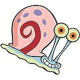 "4"" Gerald Gary Wilson Jr. Sea Snail SpongeBob Squarepants Removable Peel Self Stick Adhesive Vinyl Decorative Wall Decal Sticker Art Kids Room Home Decor Girl Boy Children Nursery Baby 4 x 3 Inch"