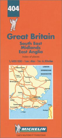 Michelin South East/Midlands/East Anglia, Great Britain Map No. 404 (Michelin Maps & Atlases)