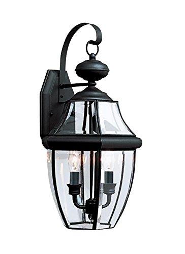Sea Gull Lighting 8039EN-12 Lancaster Outdoor Fixture, Two, Black Finish