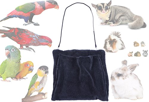 Avianweb Small Pet Kangaroo Pouch - Made in The USA (Large, Black)