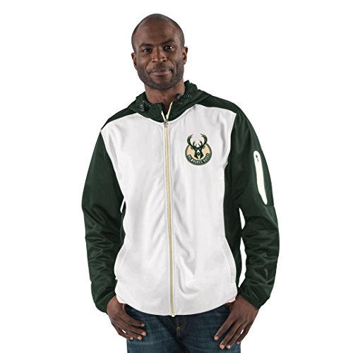 NBA Milwaukee Bucks Men's Composition Full Zip Hooded Jacket, X-Large, Green