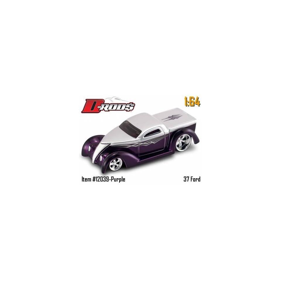 Jada Dub City D Rods Purple & Silver 37 Ford 164 Scale