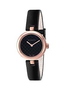 Gucci Diamantissima Analog Display Swiss Quartz Black Women's Watch(Model:Ya141501)