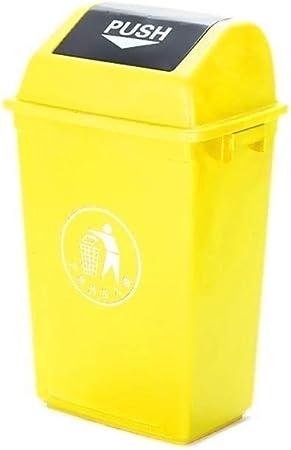 Bote de basura con tapa, Clasificación papelera de reciclaje al aire libre Jardín Papelera color múltiple Domésticos de Cocina Reciclaje de Residuos de compartimiento de reciclaje (Size : Yellow) : Amazon.es: Hogar