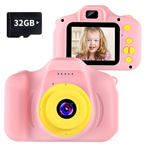 "VATENIC Kids Camera Children Digital Cameras Toy 1080P 2.0"" HD Toddler Video Recorder Shockproof Great Gifts for Kids Gifts for 3-10 Year Old Boys Girls (Included 32GB SD Card )"