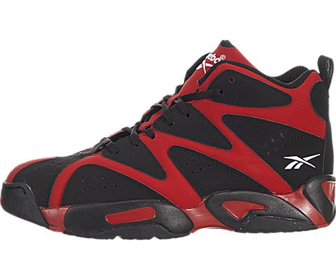 Reebok Unisex Kamikaze I Mid  Flash Red/Black/White Sneaker