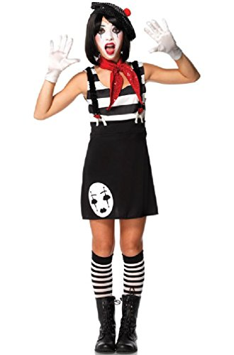 Mime Costume Makeup (Miss Mime Costume - Teen Small/Medium)