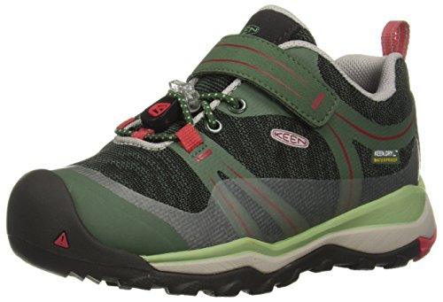 Shoe Hiking Low 3 (KEEN Unisex Terradora Low WP Hiking Shoe, Duck Quiet Green, 3 M US Big Kid)