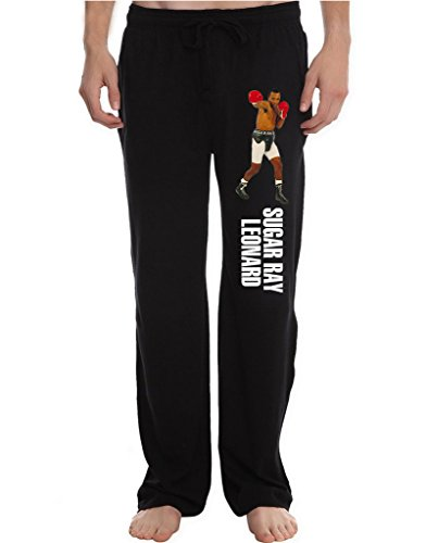 Sugar Round Boots (RBST Men's Sugar Ray Leonard Running Workout Sweatpants Pants L Black)