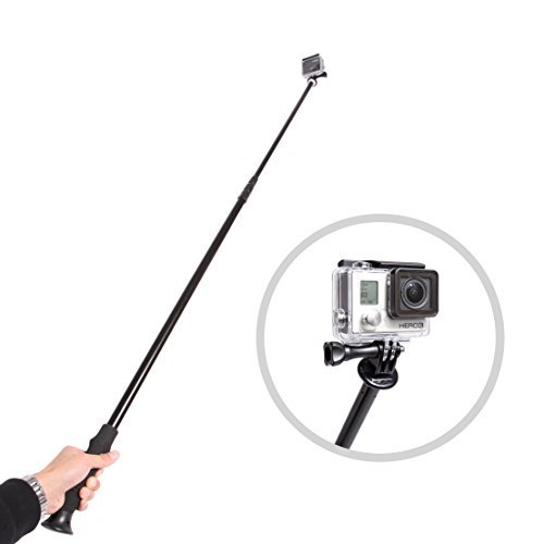 Movo Photo PH300 Telescoping Camera Pole 34'' to 100'' (8 feet!) Extension/Boom/Selfie Stick for Digital Cameras (1/4'' Thread) with Bonus Adapters for GoPro HERO, HERO2, HERO3, HERO4 by Movo