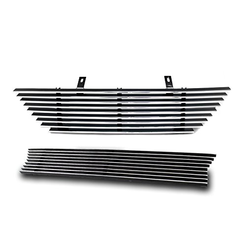 Mustang Body Saleen (ZMAUTOPARTS Ford Mustang Saleen Front Upper + Bumper Billet Grille Combo)