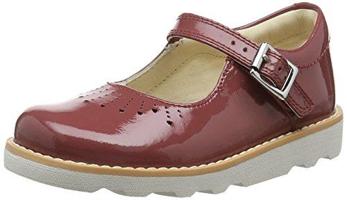 Clarks Crown Jump, Sandalia con Pulsera para Niñas Rojo (Berry Patent)
