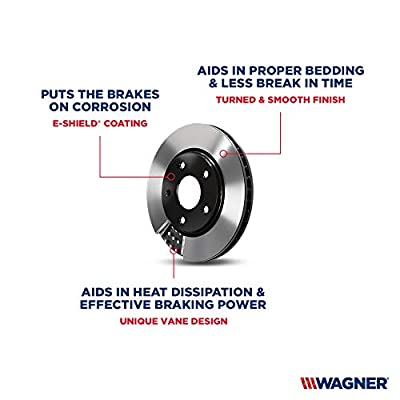 Wagner BD180049E Premium E-Coated Brake Rotor: Automotive