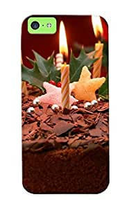 Durable Protector Case Cover With Christmas Cake Hot Design For Iphone 5c (ideal Gift For Lovers)