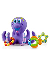 Nuby Octopus Hoopla Bathtime Fun Toys, Purple BOBEBE Online Baby Store From New York to Miami and Los Angeles