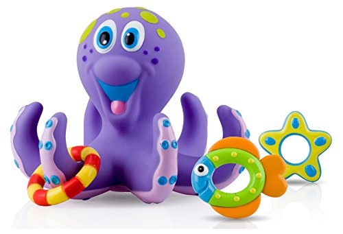 Nuby Octopus Floating Bath Toy Multi Coloured
