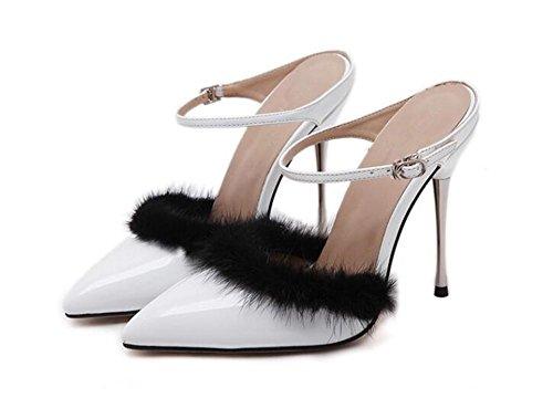 Party Dress chaussures de la couronne rTrue Ironwith chaussures à talons hauts aigu pointé chaussures , white , 37