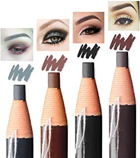Eyebrow Pencil Long Lasting Waterproof Easy To Color Durable Peel Off Pull Cord Brow Pen Makeup Cosmetic (black)