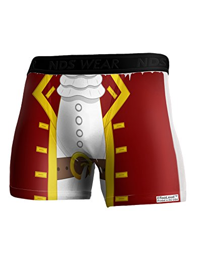 TooLoud Pirate Captain Costume - Red Boxer Brief Single Side Large All Over Print