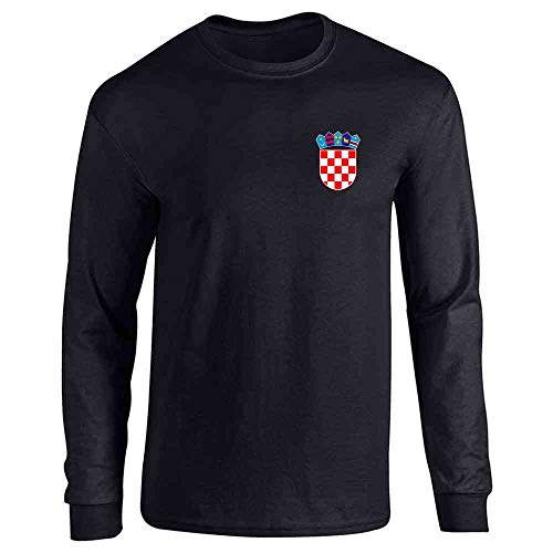 - Croatia Soccer Retro National Team Sport Football Black S Long Sleeve T-Shirt