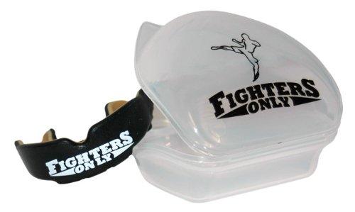 Fighters Only Men's-Mundschutz, Schwarz/Gold, Einheitsgröße Einheitsgröße