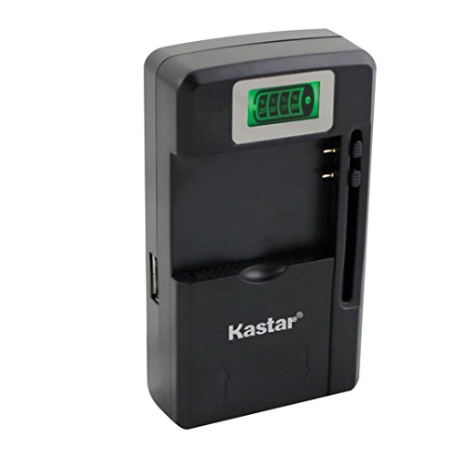 Kastar intelligent mini travel Charger(with high speed portable USB charge function) for Cell Phone PDA Camera Li-ion Battery/Digital cameras/Mp3 Mp4 players/Hand held gaming devices/PDAs Acer, Asus, Audiovox, BlackBerry, Casio, Dell, Garmin, Handspring, Hitachi, HP, Compaq, HTC, i-mate, Kyocera, LG, MiTAC, Motorola, NEC, Nokia, O2 Xda, Palm, Panasonic, Pantech, Samsung, Sanyo, Sharp, Siemens, Sony Ericsson, T-Mobile Sidekick, Toshiba...and most rechargeable lithium-ion batteries under 4.7 volts