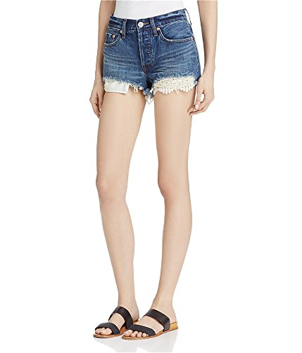 Free People New Women's Daisy Chain Lace Short Cotton Stretch Denim from Free People
