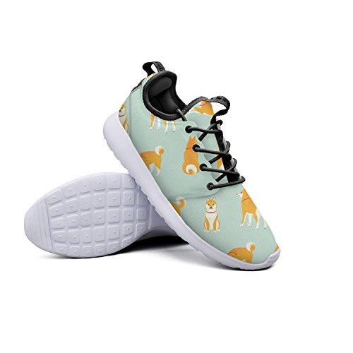 Shiba Dogs Retro Women's Sneaker Sneakers Lightweight Wear-resistant Running Shoes by Qiongxuan