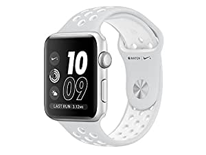 Apple Watch Series 3 Nike+ 38mm 16GB Factory Unlocked GPS + 4G/LTE Smart Watch (Silver Aluminium Case with Pure Platinum/Black Nike Sport Band) - International Version