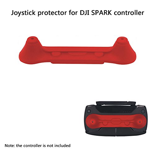 Joint Vcitory Transport Clip Controller Transmitter Protector Thumb Stick Anti-Shake Connected Rocker Joystick Holder Bracket for DJI Spark (Red)
