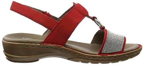 Ara Hawaii - Sandalias de Punta Descubierta Mujer Rojo (Rojo 07)