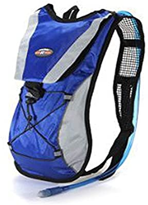 Blue Hydration Pack Water Rucksack Backpack Cycling Bladder Bag ...