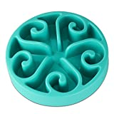 Slow Feeder Bowl, Dog Puzzle Maze Feeder Interactive Fun Feeder Food Water Dish Bowl for Dog Weight loss Prevent Pet choke by Wusjyeda (Blue)