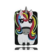 iPad Mini 2 étui, iPad Mini 2 Coque,iPad Mini 2 case. iPad Mini 2 cover,3D Magical Unicorn Pony Animal caoutchouc doux [Shock Proof] case cover pour iPad Mini 2 -black