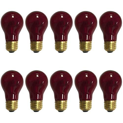 130v Bulb A15 Light (Royal Designs Long Life Decorative Red Light Bulb 15-Watt A-15 130V 2500 Life Hours (10-Pack) (LB-5013-10))