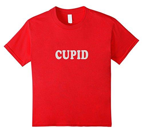 [Kids Halloween Group Costume T Shirt Santa Reindeer Cupid Tee Fun 6 Red] (Cupid Costume For Girls)